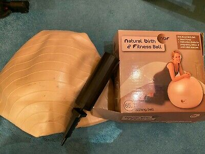 Natural Birth and Fitness Ball (NBF) 65cm with pump and instructions