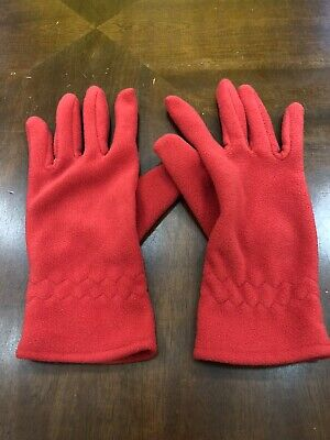 Womens Joe Boxer Red Fleece Gloves One Size Fits Most