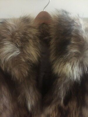 Gorgeous Raccoon Coat Hand-Made in the Russian Federation  Cozy WARM Size Medium
