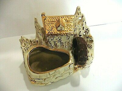 SHAWNEE GOLD-TRIM OLD MILL AND POND Planter- USA  # 769 -  WHITE  - Perfect!