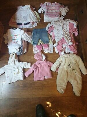 baby girl clothes 0-3 months bundle Babygrows, Next, George, Disney