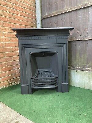 Victorian/Edwardian Cast Iron Medium Fireplace (Free Delivery)
