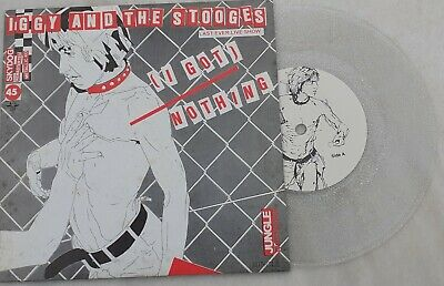 "iggy and the stooges 7"" single transparent vinyl"