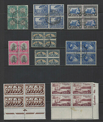 British Colonies-South Africa--Multiples-Mixed Periods-Mint-Mnh-Used-Vf-