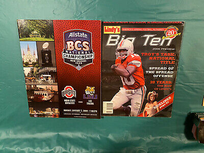 Lindy's Big Ten 2006 Preview And 2008 National Championship Program