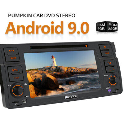 Pumpkin Android 9.0 Car Stereo DVD Player GPS DAB+ WiFi 4GB 32GB For BMW 3er E46