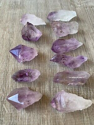 1 - 2.25 Inches Brazilian Rough Amethyst Natural Point, Wholesale Bulk Lot