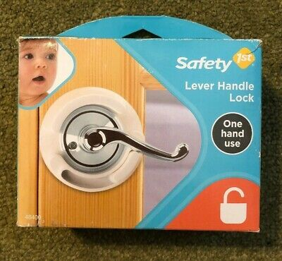 Safety 1st Lever Handle Lock Children - Baby Proofing No Drilling 1 hand use NIP