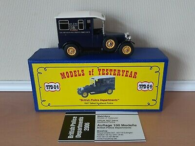 Matchbox Models of Yesteryear Code 2 YPD04 MCCD 1927 Talbot Southend Police