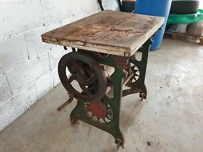 Vintage Cast Iron Washing Mangle Table Type