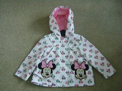 Girls White  Spring/Summer Hooded Jacket Age 12-18 Months from Disney at TU