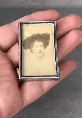 Victorian Miniature Solid Silver Photo Frame, 1899