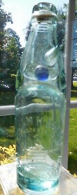 Mint antique English Marble Stopper Aqua bottle William H. Baxter Mineral Water