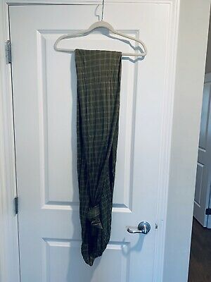 Solly Baby Wrap Windowpane Green Gently Used - Perfect For Summer