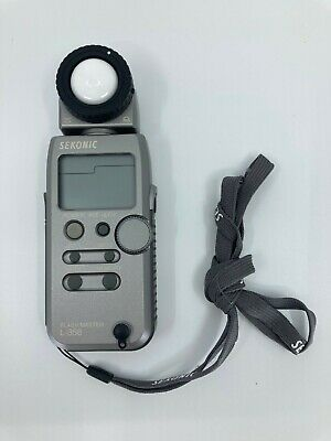 Sekonic Flash Master L-358 Light Meter with Case and Strap