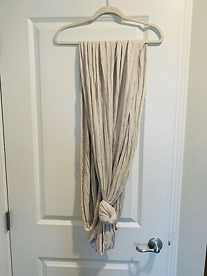 Solly Baby Wrap Windowpane Tan Gently Used - Perfect For Summer