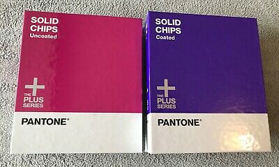 Pantone Plus Series Solid Chips Coated and Uncoated 3 Ring Binder Books