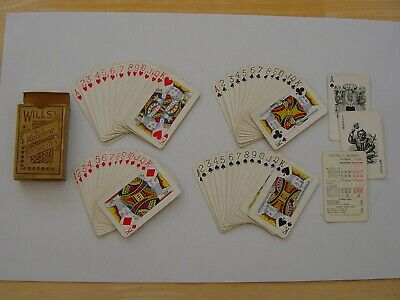 VINTAGE WILLS's WILD WOODBINE CIGARETTES PLAYING CARDS – Early