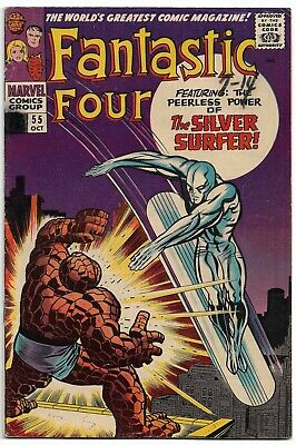 FANTASTIC FOUR #55 FN 6.0 1966 KIRBY! **Read Description!** silver surfer