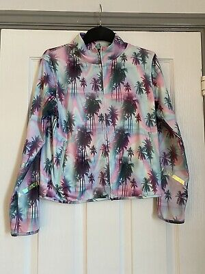 Fab Girls Next Active Purple Green Palm Tree Jacket Age 12 Yrs Worn Once