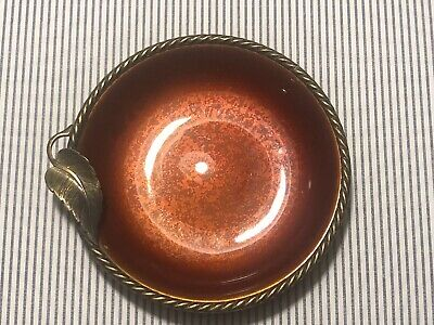 Vintage Evans Enameled England On Brass Ashtray Cigaret Tabaco