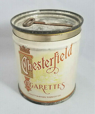 Great Condition CHESTERFIELD 50 Cigarettes Tin Litho Empty Tobacco Tin