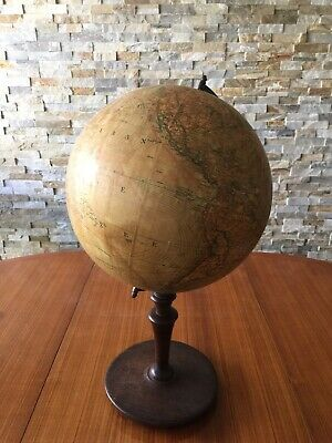 Pre-WWII late 1930s Holland Netherlands Columbus-Verlag Globe in Dutch