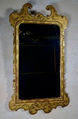 An Antique 19th Century Gesso Gilt Wall Mirror George I Style Overmantel Hall