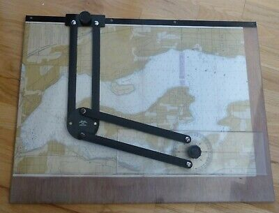 Vintage nautical chart plotter 18x24""