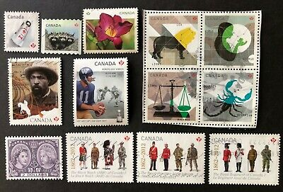 Canada 2012  13 Used Stamps With 2 Sets + High Value