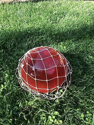 "antique glass fishing float 8"" Dia.  ( Red )"