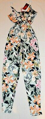 Missi  London Womens Floral Print Jumpsuit  Playsuit- Size: 12 -New With Tags