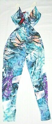 Missi  London Womens Slinky Wrap Over Jumpsuit  Playsuit-Size: 12 -New With Tags