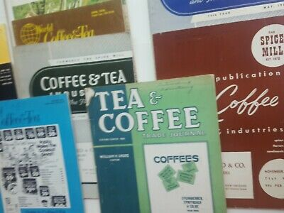 Lot Of 10 Coffee And Tea Trade Journals Magazines World Of Coffee & Tea