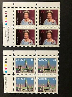 CANADA 1988 #s 1164-1165 - 38 cent  DOMESTIC FIRST-RATE DEFINITIVE - 2  PBs MNH