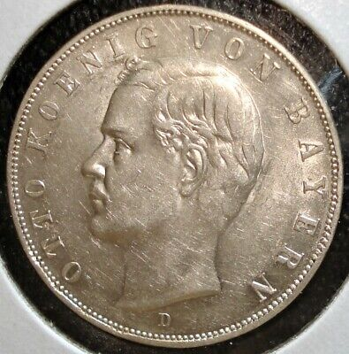 1913 D Silver 3 Mark Coin from Barvaria (German States)