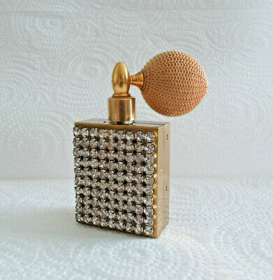 Vintage - Jeweled Clear Rhinestone Perfume Bottle Atomizer