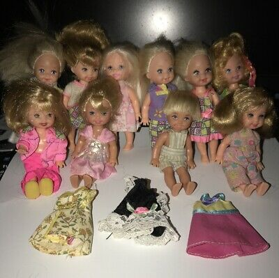 Barbie Kelly Doll Lot Of 10 With Clothes