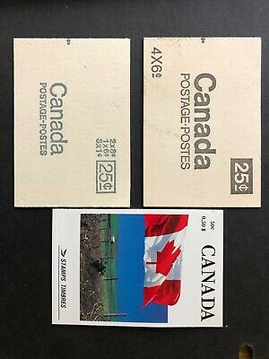 CANADA 1970, 1971, 1990 3 BOOKLETS- #s65, 66b, 111- MNH