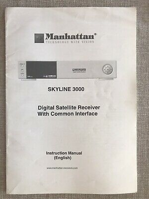 Manhattan Skyline 3000 Sat Reeiver Instruction Manual