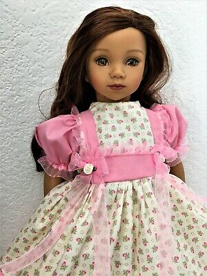 "New Handmade Pink Roses On Ivory 3 Piece Dress Set For  20"" Maru & Friends Doll"