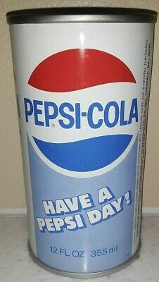 """70's Pepsi Cola """" Have A Pepsi Day """" Upside Down Mistake Soda Can"""