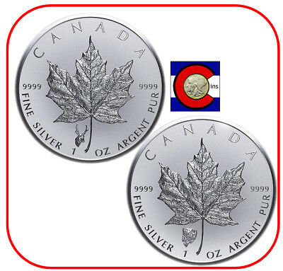 2018 Canada 1oz Silver Antelope & Bison Reverse Proof Privy Coins in capsules