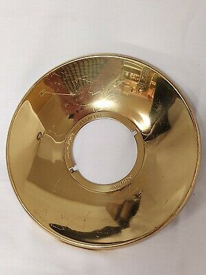 Vintage Schlage Door Lock Escutcheon Plate Ring 803 Design Polished Brass Knob