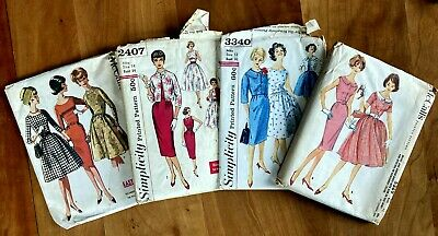 Vintage 1960s Dress Patterns - Lot of 4 patterns - Simplicity and McCall