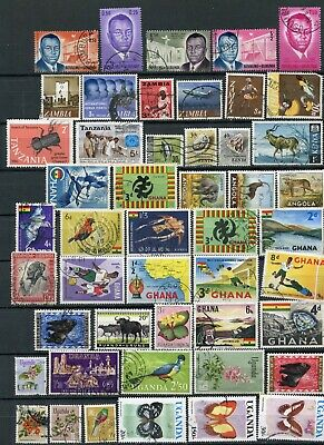 70 Old & Vintage Africa Postage Stamps Various Countries Uganda Kenya Used MH