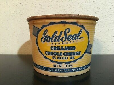 GOLD SEAL CREAMERY Creole Cream Cheese Container NEW ORLEANS Louisiana DAIRY