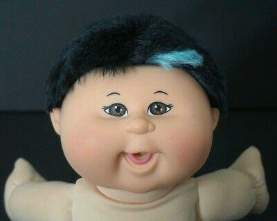 "Cabbage Patch Kids Doll 14"" Black Hair Blue Patch Play Along Xavier Roberts"