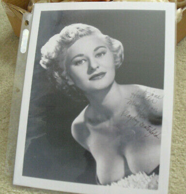 1954 Playboy Playmate Diane Hunter Signed Autographed 8x10 Photograph with COA