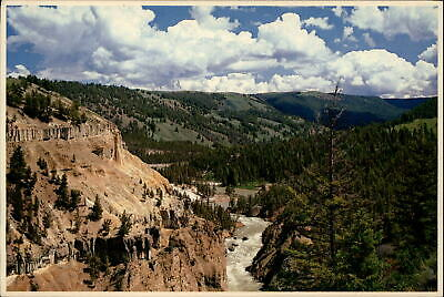 Narrows Yellowstone National Park Wyoming ~ 1970s vintage postcard